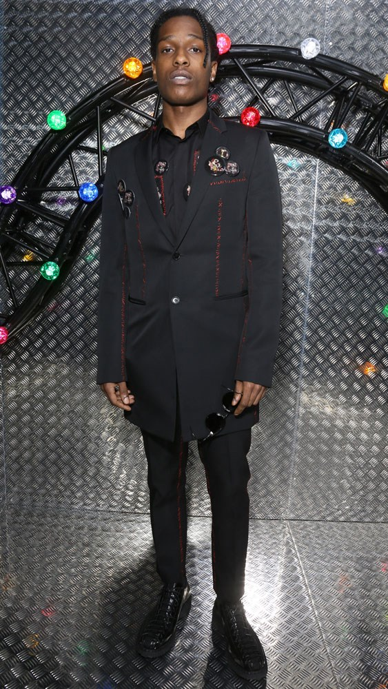 A$AP Rocky at the Dior Homme SS17 show.