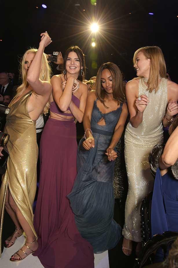 odels Lara Stone, Kendall Jenner, Jourdan Dunn and Karlie Kloss attend amfAR's 22nd Cinema Against AIDS Gala