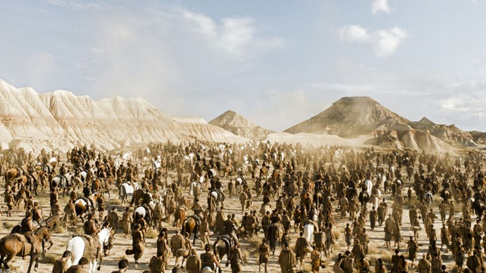 <strong>IF YOU LIKED: THE DOTHRAKI SEA</strong> <br><br> Daenerys' Dothraki people reside in a desert region in Essos.