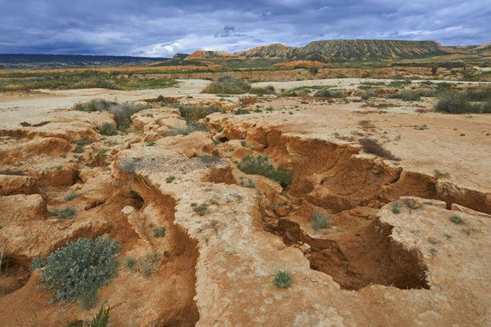</strong>GO VISIT: BARDENAS REALES</strong> <br><br> These vast, uninhabited badlands can be found in Navarre, a region in the north of Spain that borders France. It's said to measure 104,000 acres and is divided into three parts: the plateau of El Plano, the southern area of Bardena Blanca and the highest part, La Negra.