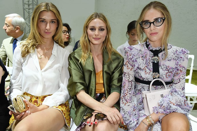Olivia Palermo and Chiara Ferragni at Giambattista Valli