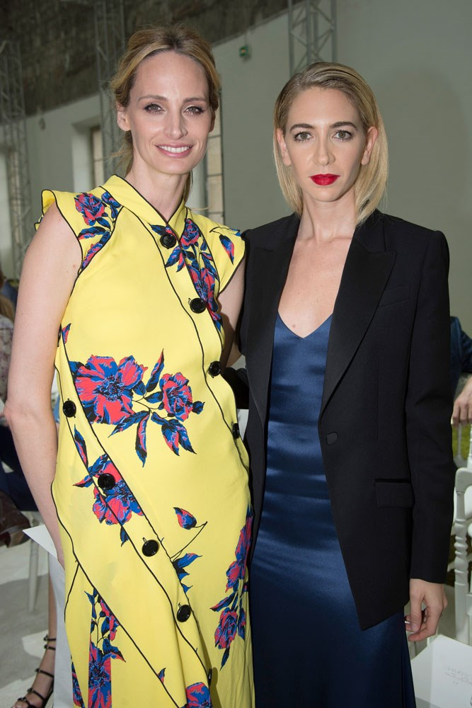 Lauren Santo Domingo and Sabine Getty at Giambattista Valli