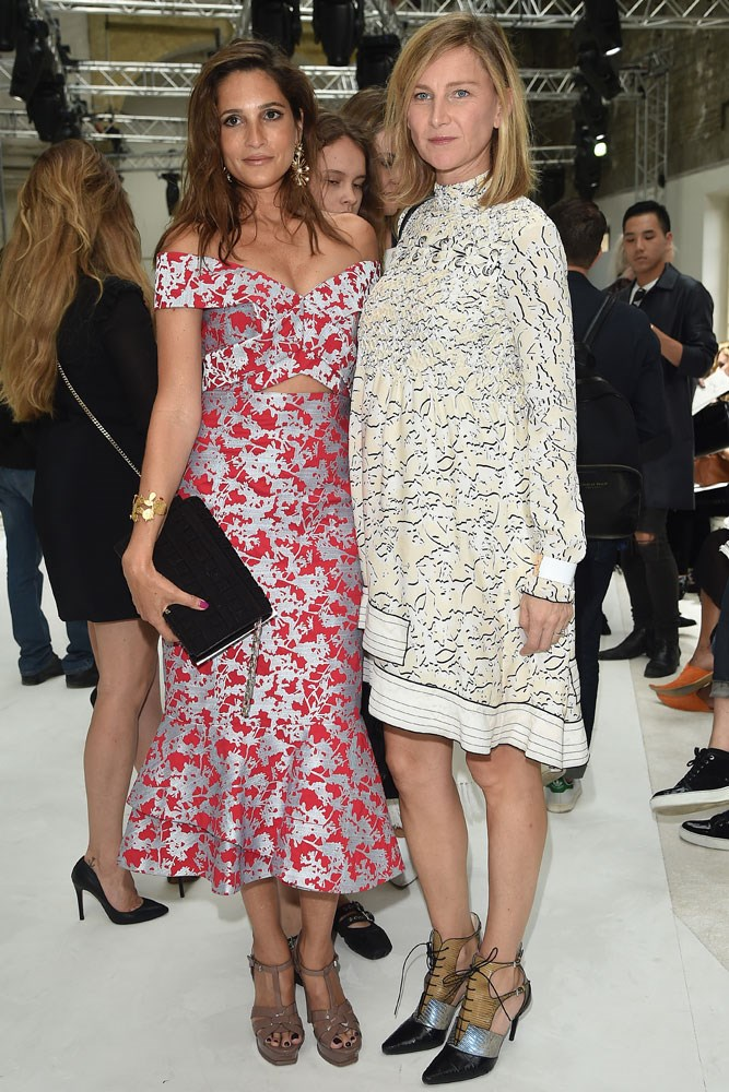 Astrid Munoz and Elizabeth von Guttman at Giambattista Valli