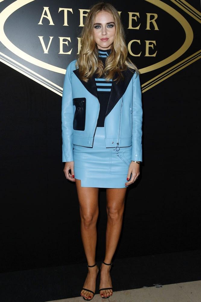 Chiara Ferragni at Atelier Versace