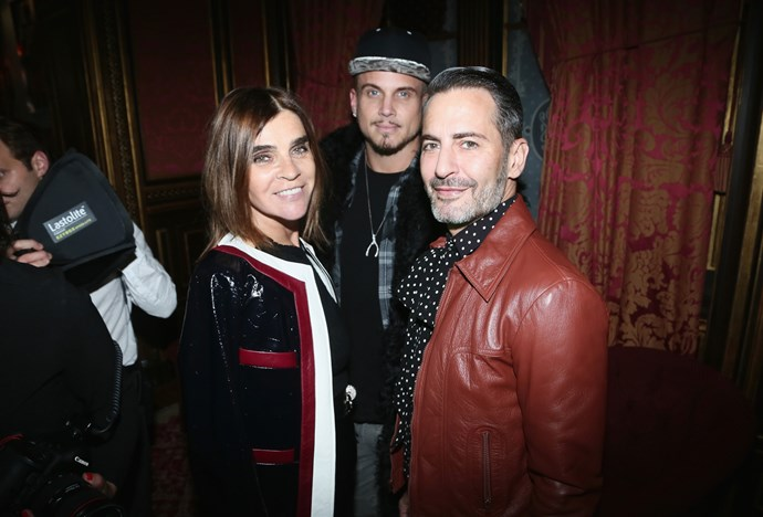 Carine Roitfeld and Marc Jacobs