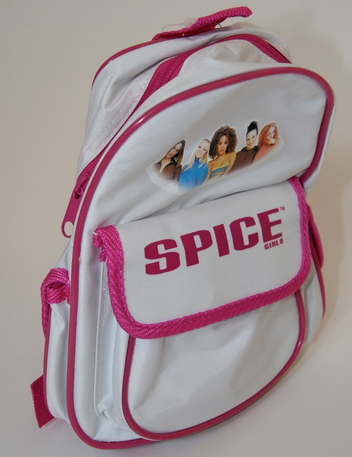 A backpack, or bag of some description, that looked a lot like this (and that you probably scored in a Spice Girls Showbag at the Easter Show after saving your pocket money in anticipation of the purchase).