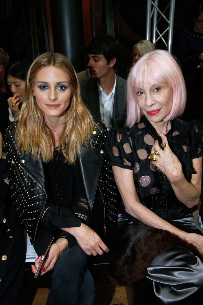 Olivia Palermo and Marie Beltrami at Alexis Mabille