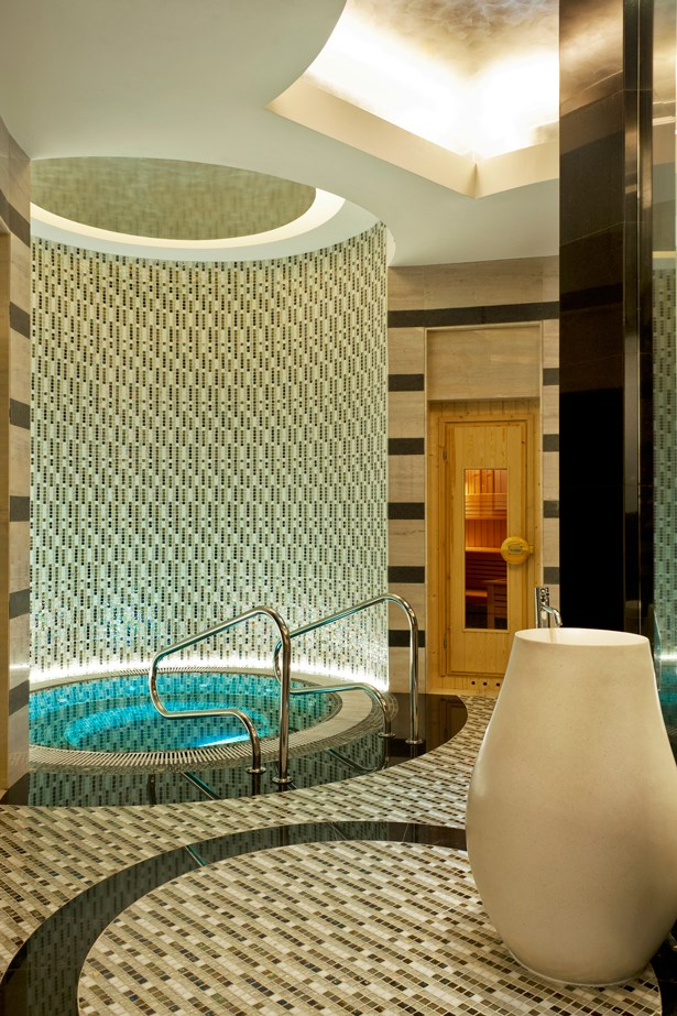 <p><strong>Where:</strong> Iridium Spa at The St Regis Saadiyat Island Resort, Abu Dhabi, UAE</p> <p><strong>Top treatment:</strong>  In the harsh desert of Abu Dhabi, consider the Iridium Spa your luxury oasis. The cool, tranquil interior will refresh your senses while the therapists prepare your custom treatment. We love the Ayurvedic Inspired Time Ritual (180 minutes, from $550), which uses the principles of the ancient holistic medical practice Ayurveda to bring balance and relieve stress from both the body and mind. Starting with an all-over body exfoliation, dry skin cells are sloughed away before being nourished with a bespoke body wrap. A facial followed by a scalp and full body massage complete the revitalising experience.</p>
