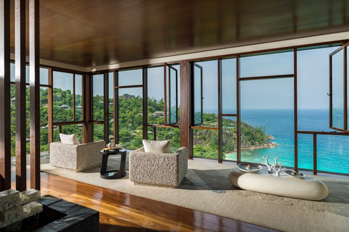 <p><strong>Where:</strong> Seychelles Spa at The Four Reasons Resort, Seychelles</p> <p><strong>Top treatment:</strong> Sitting at the very top of the resort, over eighty metres above sea level, the Seychelles Spa offers breathtaking views of the Indian Ocean. Therapists incorporate local herbs and spices such cinnamon leaves and patchouli into the Indian and Asian inspired treatments to create a true island experience. One of the most popular treatments at the spa is the Hilltop Fusion Massage (60 minutes, from $225), which is individually tailored to your Master Element and determined by your date of birth. Drink in the wall-to-wall views from the treatment room, drifting into deep relaxation as any muscular tension is eased away. </p>