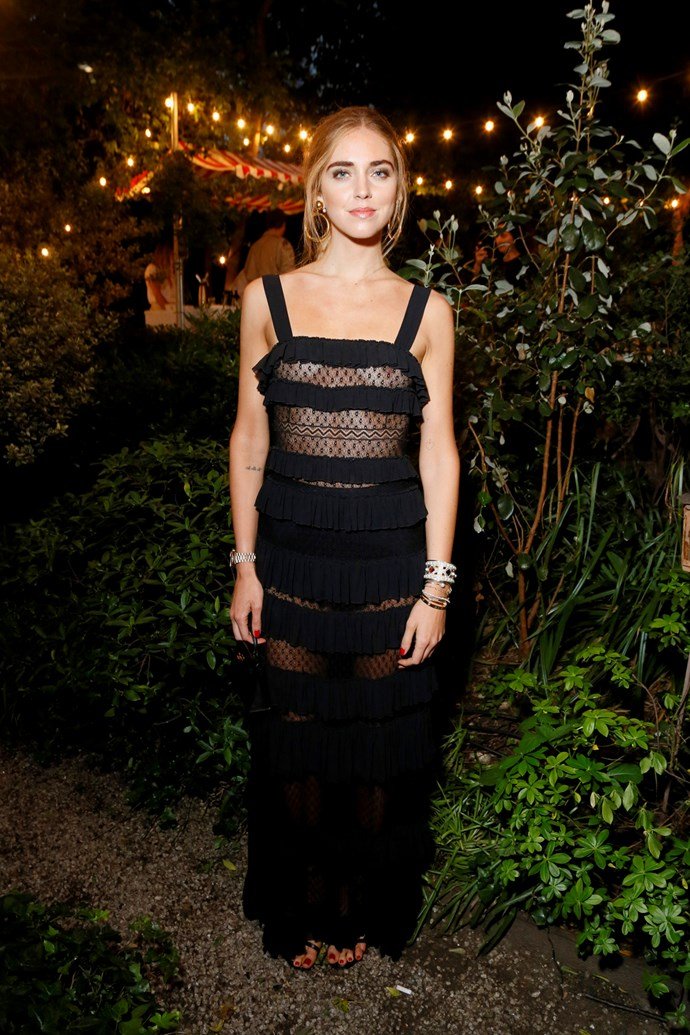 Chiara Ferragni at Isabel Marant and mytheresa.com's Paris Fashion Week party