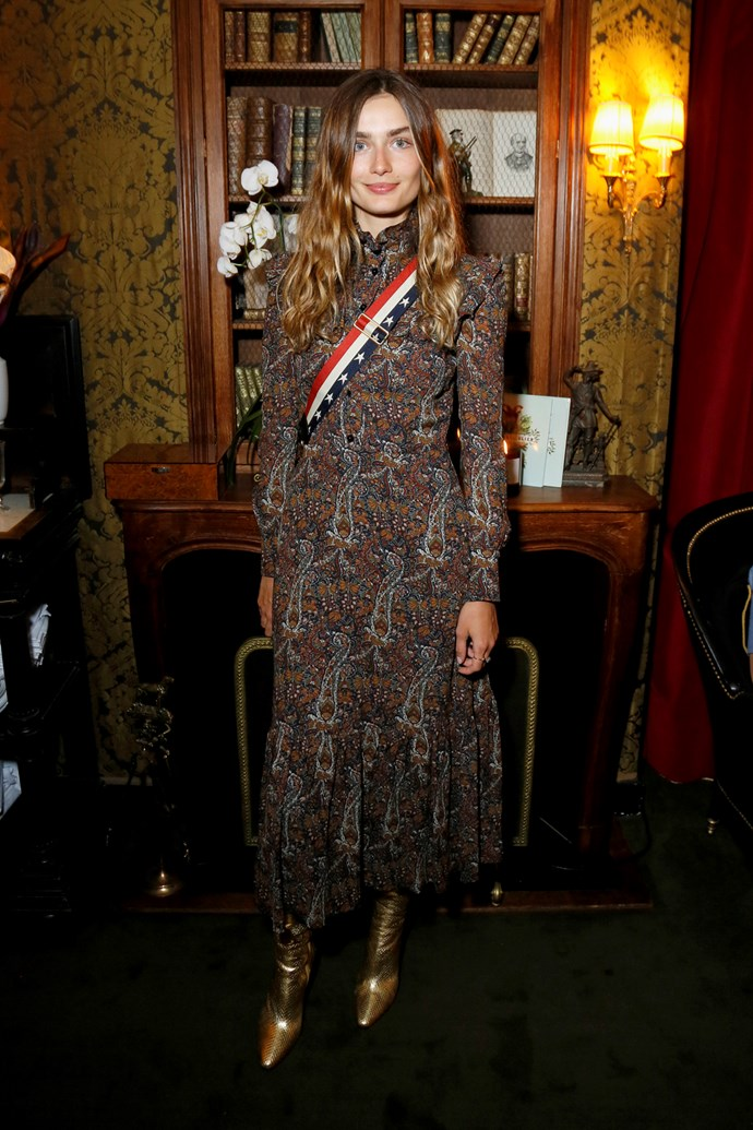 Andreea Diaconu at Isabel Marant and mytheresa.com's Paris Fashion Week party