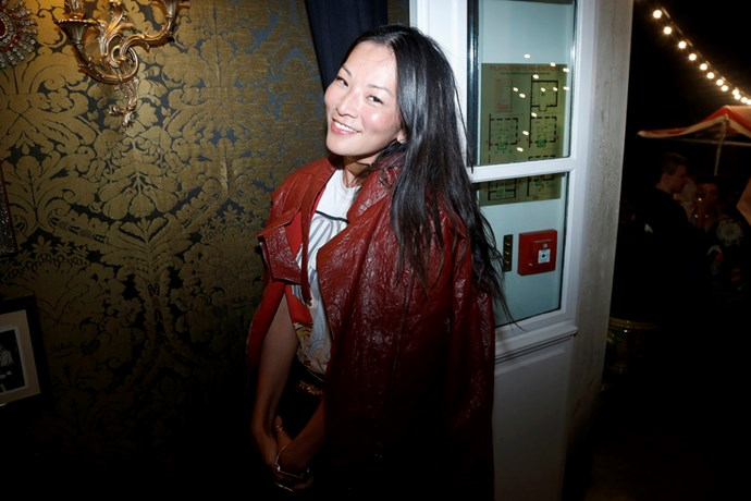 Tina Leung at Isabel Marant and mytheresa.com's Paris Fashion Week party