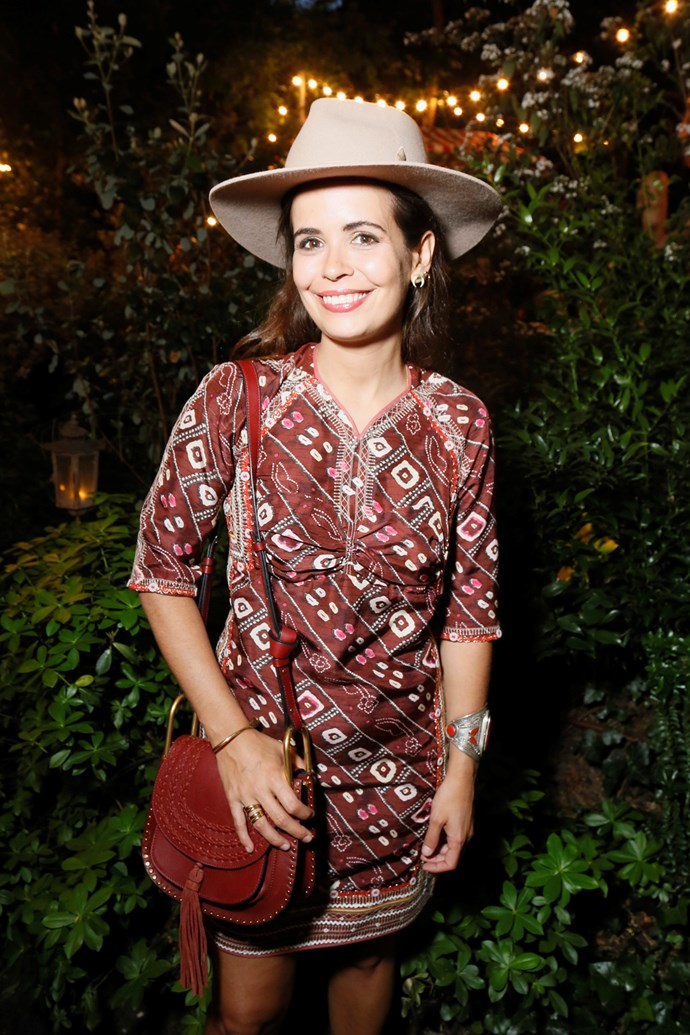 Sara Escudero at Isabel Marant and mytheresa.com's Paris Fashion Week party