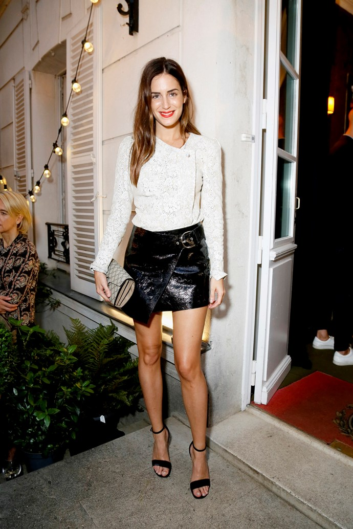 Gala Gonzalez at Isabel Marant and mytheresa.com's Paris Fashion Week party