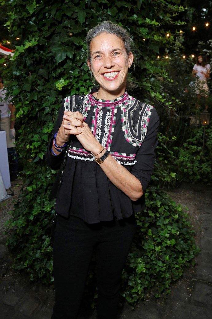 Isabel Marant at her Paris Fashion Week party, held in collaboration with mytheresa.com