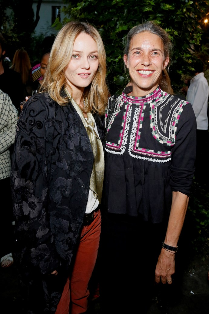 Vanessa Paradis and Isabel Marant at Marant's Paris Fashion Week party, held in collaboration with mytheresa.com