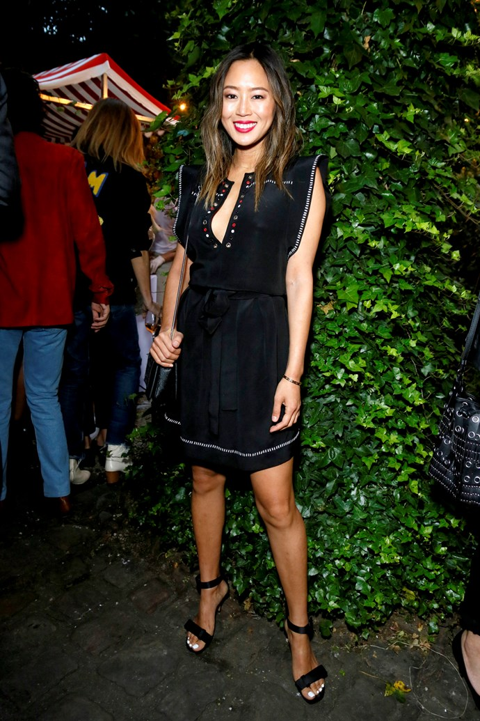 Aimee Song at Isabel Marant and mytheresa.com's Paris Fashion Week party