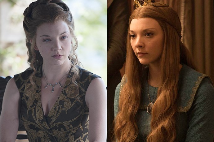 Margaery Tyrell in season one, and in season six.