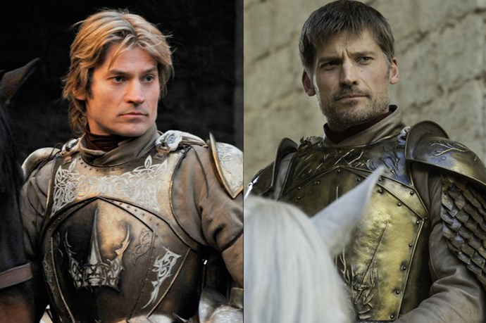 Jaime Lannister in season one, and in season six.
