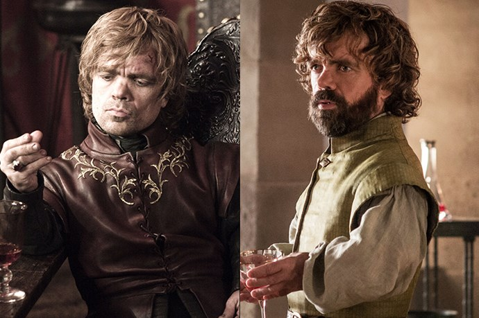 Tyrion Lannister in season one, and in season six.