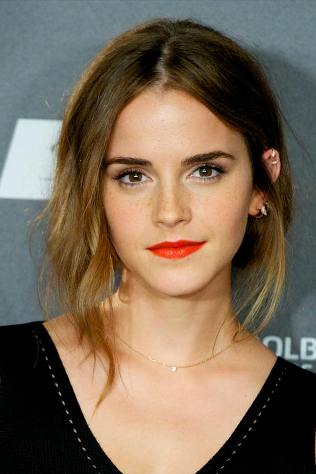 Emma Watson's arches are neatly sculpted at the <em>Regression</em> photocall in Madrid.