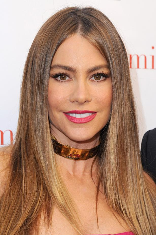 Full brows look youthful on Modern Family star Sofia Vergara at the 2016 ATAS Emmy event.