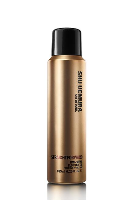 """<strong>Step 4. Add an express agent</strong> <br><br>Blowdry spray is the Olivia Pope of life. It fixes and fights frizz, locks out humidity, protects from heat damage, helps your style last longer and, the big one: speeds up blowdry time. Magic. Sprays suit all textures, but if your hair is especially thick, upgrade to a lotion. <br><br>Straight Forward, $48, <a href=""""http://www.adorebeauty.com.au/shu-uemura/shu-uemera-straight-forward.html"""">Shu Uemura</a>"""