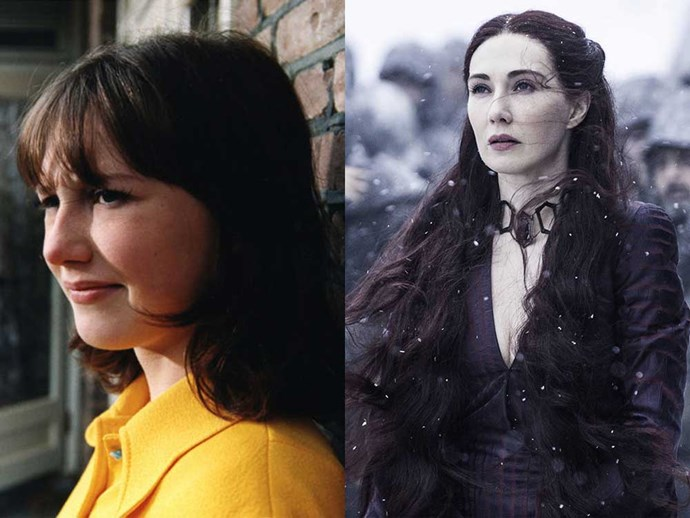 </p><p><b>Carice Van Houten</b> as Suzy in <em>Suzy Q</em>  (1999), and as Melissandre in <em>Game of Thrones</em>.