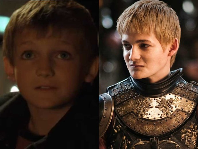</p><p><b>Jack Gleeson</b> as an unnamed (and disturbingly adorable) little boy in <em>Batman Begins</em> (2005), and as Joffrey Baratheon in <em>Game of Thrones</em>.