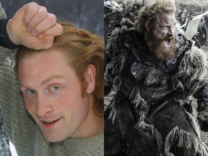 </p><p><b>Kristofer Hivju</b> in an undated headshot, and as Tormund Giantsbane in <em>Game of Thrones</em>.