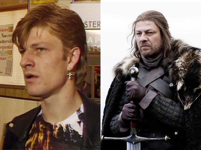 </p><p><b>Sean Bean</b> in a 1964 episode of <em>The Bill</em>, and as Ned Stark in <em>Game of Thrones</em>.