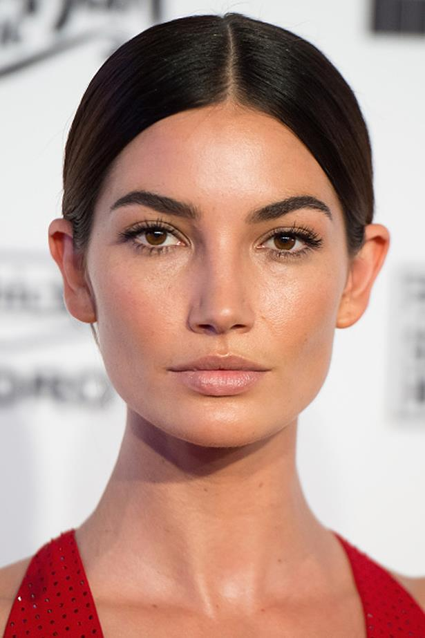 Lily kept the rest of her make up understated so all the focus stayed on her perfectly framed brows at the 2016 Sports Illustrated Swimsuit launch.