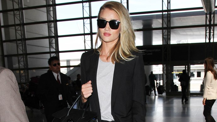 Rosie Huntington-Whiteley airport.