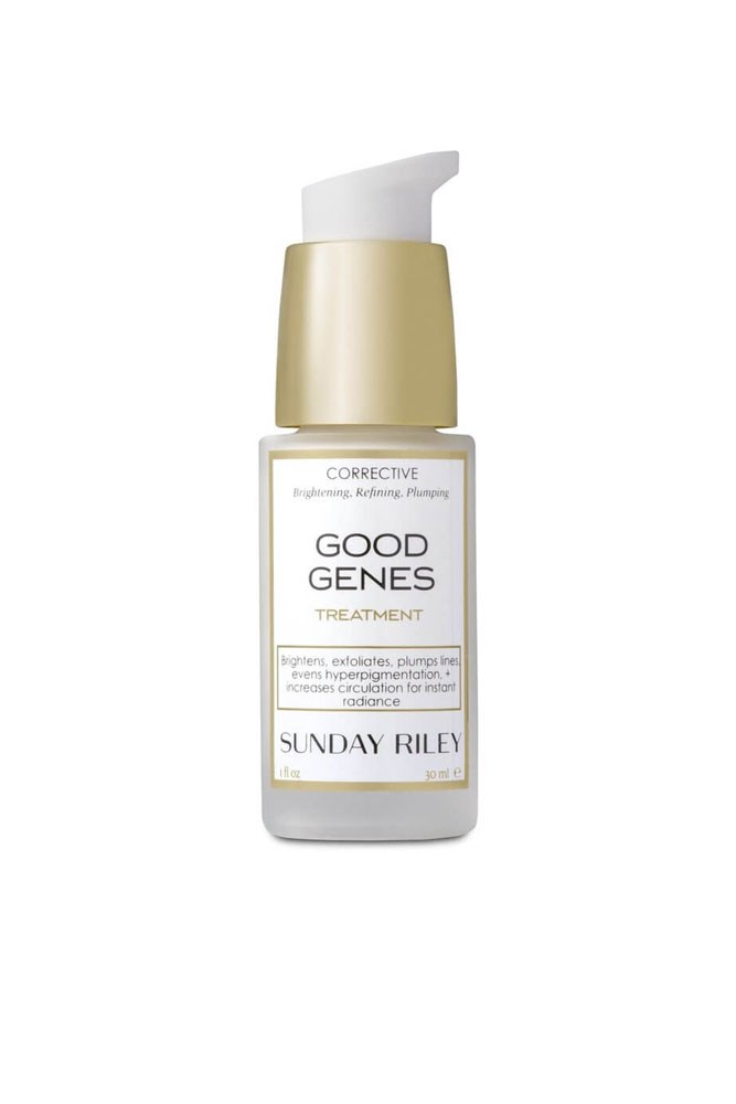 """I strongly believe in chemical exfoliation (read: acid) and this serum contains lactic acid to resurface your skin and it helped reduce my pigmentation. Plus it gives an undisputed glow so good you'll skip foundation the next day."" – Amber Elias, editorial coordinator <a href=""http://mecca.com.au/sunday-riley/good-genes-all-in-one-lactic-acid-treatment/I-015823.html#q=Sunday+Riley&start=1"">Good Genes All-In-One Lactic Acid Treatment, $158 for 30ml, Sunday Riley</a>"