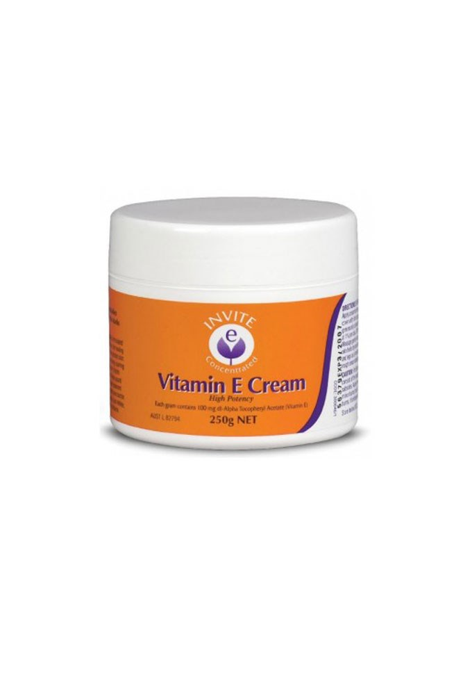 """This vitamin E cream is pure skincare gold—it's so cheap but makes my skin look and feel a million bucks."" – Eden Abagi, deputy art director <a href=""http://www.pharmacyonline.com.au/invite-e-vitamin-e-cream-250g/"">Vitamin E Cream, $15.95 for 250g, Invite E</a>"