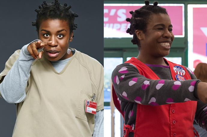 <p> <strong>Name:</strong> Suzanne 'Crazy Eyes' Warren, 32.<p> <p> <strong>Offense:</strong> Kidnapping and Involuntary Manslaughter of a Minor.<p> <p> <strong>Sentence:</strong> Unknown.<p>
