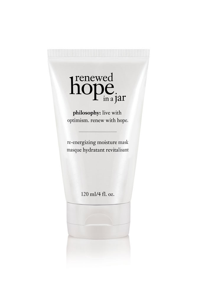 "The Mask<br> <a href=""http://www.philosophyskincare.com.au/"">Renewed Hope In A Jar Re-Energising Moisture Mask, $45 for 120ml, Philosophy </a>"