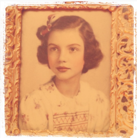 """<strong>TAYLOR SWIFT'S FIRST INSTAGRAM</strong><br><br> Taylor's first photo, posted almost five years ago, was a throwback pic of her grandmother, doing that red lip classic thing that you like.<br><br> Credit: <a href=""""https://www.instagram.com/taylorswift/?hl=en"""">@taylorswift</a>"""