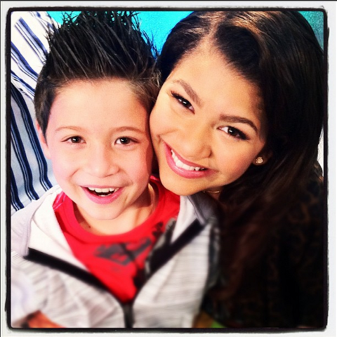"""<strong>ZENDAYA'S FIRST INSTAGRAM</strong><br><br> Z-swag, as she refers to herself in this pic, shared this sweet photo with her Shake it Up! co-star Davis Cleveland (aka D-Dogg) in her first post about four and a half years ago.<br><br> Credit: <a href=""""https://www.instagram.com/zendaya/?hl=en"""">@zendaya</a>"""