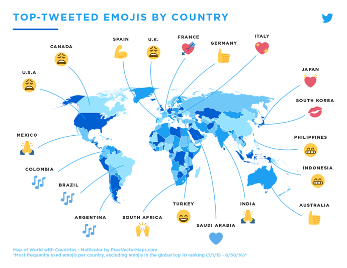 And if you wanted to see how the world fared, they have also broken that down too. <br><br> Happy World Emoji Day!