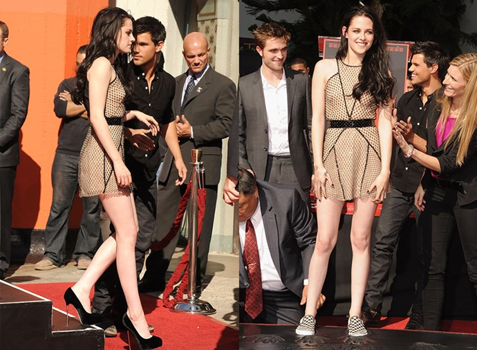 Or while on the red carpet...