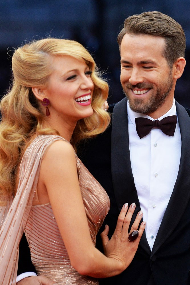 **Blake Lively and Ryan Reynolds**  The two met back in 2010 on the set of *Green Lantern*, when Reynolds was still married to Scarlett Johansson and Lively dating another co-star, *Gossip Girl's* Penn Badgley. Rumour has it they started dating in late 2011, and were married by September 2012. The couple's daughter James Reynolds will be two in December, and the couple welcomed their second child, a girl named Ines, in 2016.