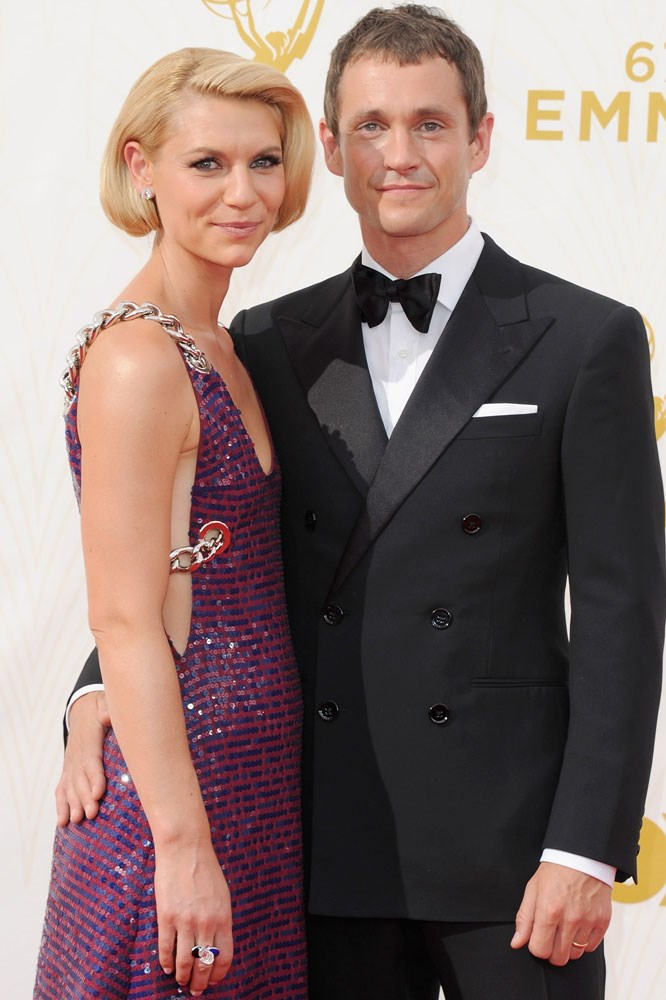 """**Claire Danes and Hugh Dancy**  The couple fell in love on the set of 2007 film *Evening* and married in France in 2009. Danes told US *Glamour* in a 2014 interview: """"Occasionally I'll wake up and notice his… form. And I'll be, 'Oh, wow. Dude. Is a looker.' Then I get shy, all over again. It's not why I love him, but it's a very nice bonus."""""""