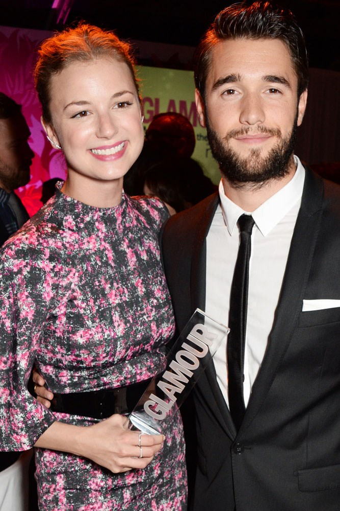 **Emily VanCamp and Josh Bowman**  The two met while playing star-crossed lovers Emily Thorne and Daniel Grayson on *Revenge*, with rumours of romance first swirling in 2012.