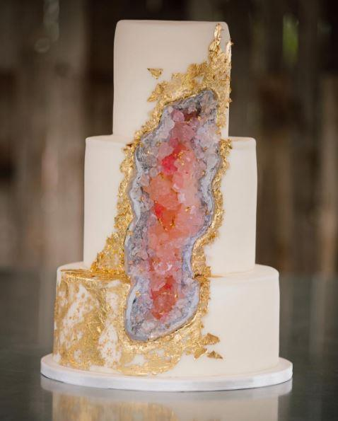"<P> GEODE<P> <P> If you're into crystals, then you're probably going to be into geode cakes. Bakers use crystallised sugar and food colouring to make these beautiful formations. <p> <p> <a href=""https://www.instagram.com/carriescakesut/"">Carrie's Cakes UT</a>."