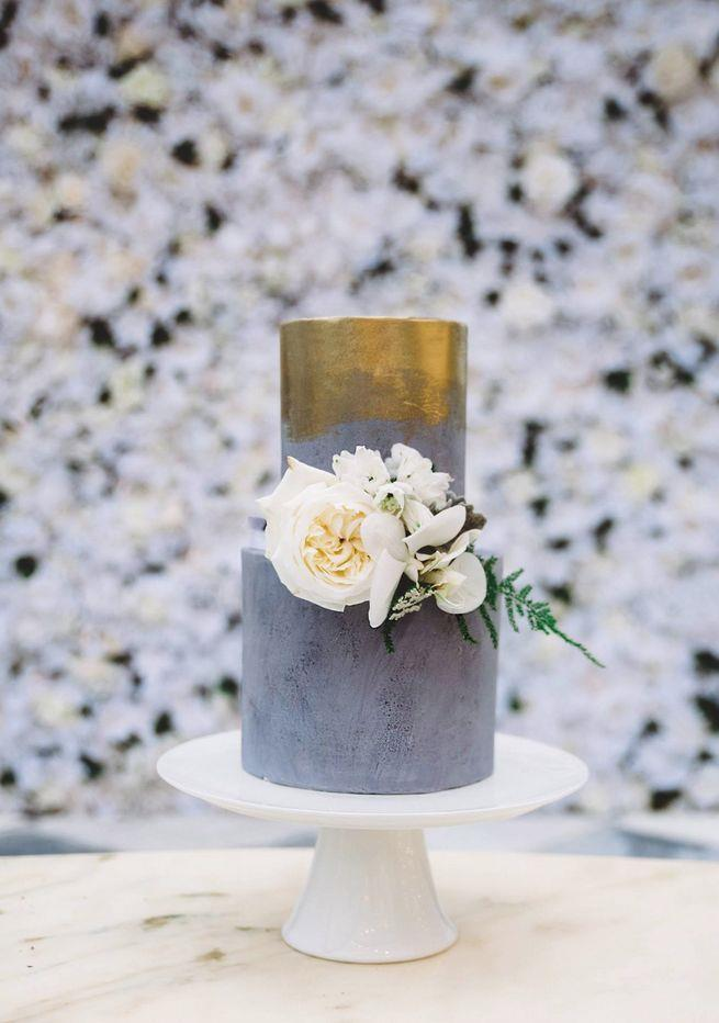 """<p> GOLD LEAF<p> <p> Cakes can be flashy, too, you know. Add a bit of gold (or silver... or bronze) leaf to take things to the next level.<p> <p> <a href=""""http://www.sweetbakes.net.au/"""">Sweet Bakes</a>."""