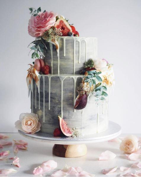 "<p> DRIP DROP<p> <p> It may be a little detail, but it definitely packs a punch. Bakers are using coloured chocolate to get arty in the drop department.<p> <p> <a href=""https://www.instagram.com/cordyscakes/"">Cordy's Cakes</a>."