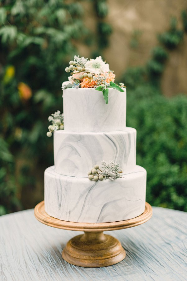 "<p> MARBLE<p> <p> If you can make your benchtops and homeswear look chic this way, who says you can't make your wedding cake the same?<p> <p> <a href=""http://www.lushcakery.com/"">Lush Cakery</a>."