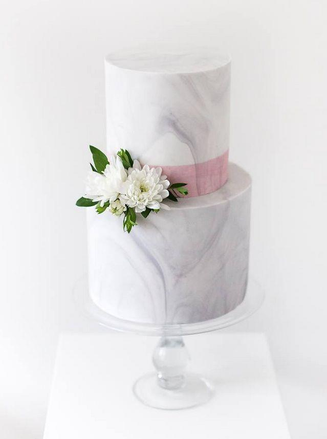 "<p> MARBLE<p> <p> If you can make your benchtops and homeswear look chic this way, who says you can't make your wedding cake the same?<p> <p> <a href=""http://www.sweetbakes.net.au/"">Sweet Bakes</a>."