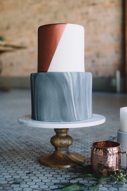 "<p> MARBLE<p> <p> If you can make your benchtops and homeswear look chic this way, who says you can't make your wedding cake the same?<p> <p> <a href=""http://www.sheilanoltphotography.com/"">Sheila Nolt Photography</a>."